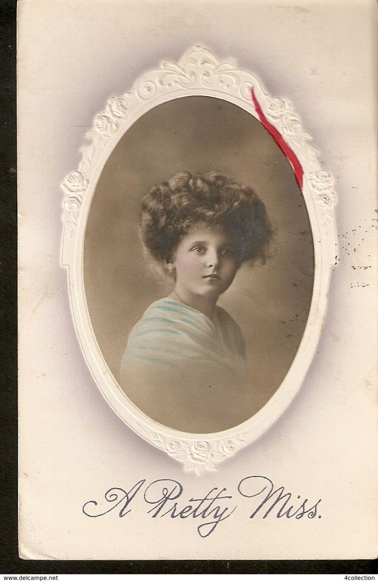 Germany Berlin EAS Old embossed Postcard posted 1900 - 1912 - A Pretty Miss Woman Girl