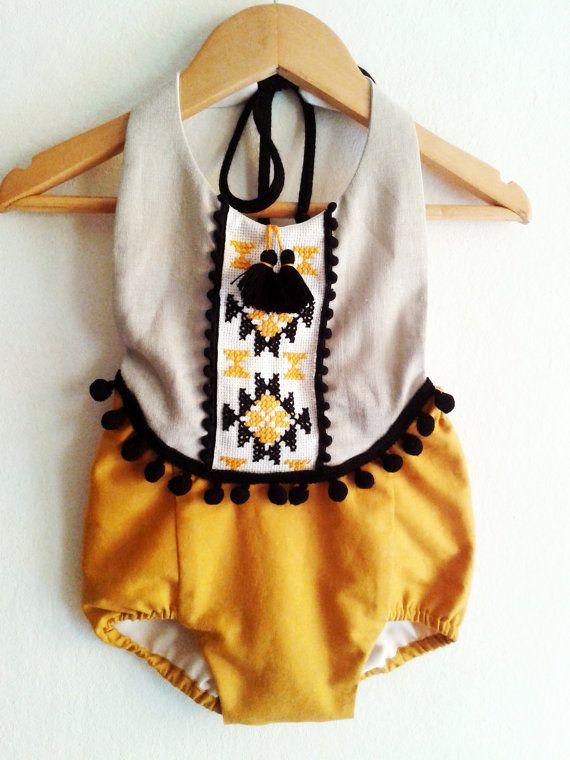 Девочка Romper / Белье Boho Chic женский пляжный костюм / Детские от VivaBohoStyle
