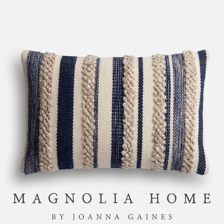 Magnolia Home Zander Navy & Ivory Lumbar Pillow