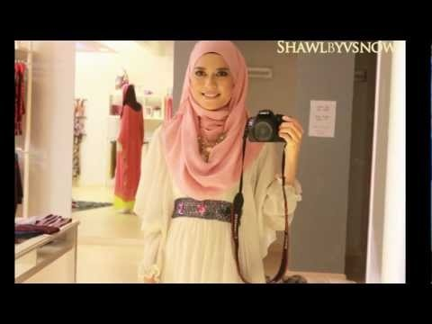 Shawlbyvsnow : Hijab Tutorial with Accessories