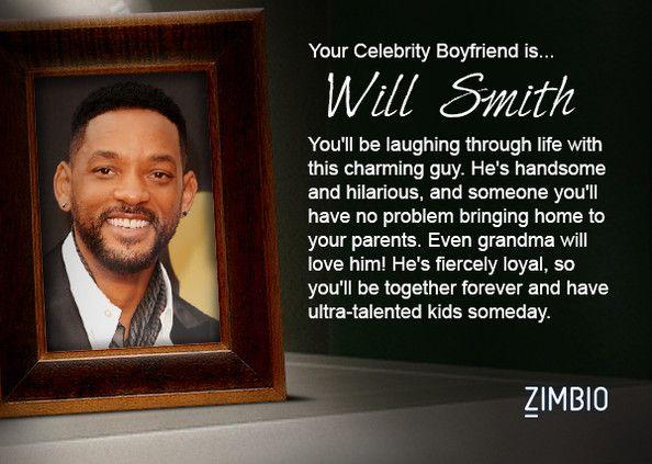 I took Zimbio's celebrity boyfriend quiz and my true love is Will Smith! Who's yours? #ZimbioQuiz