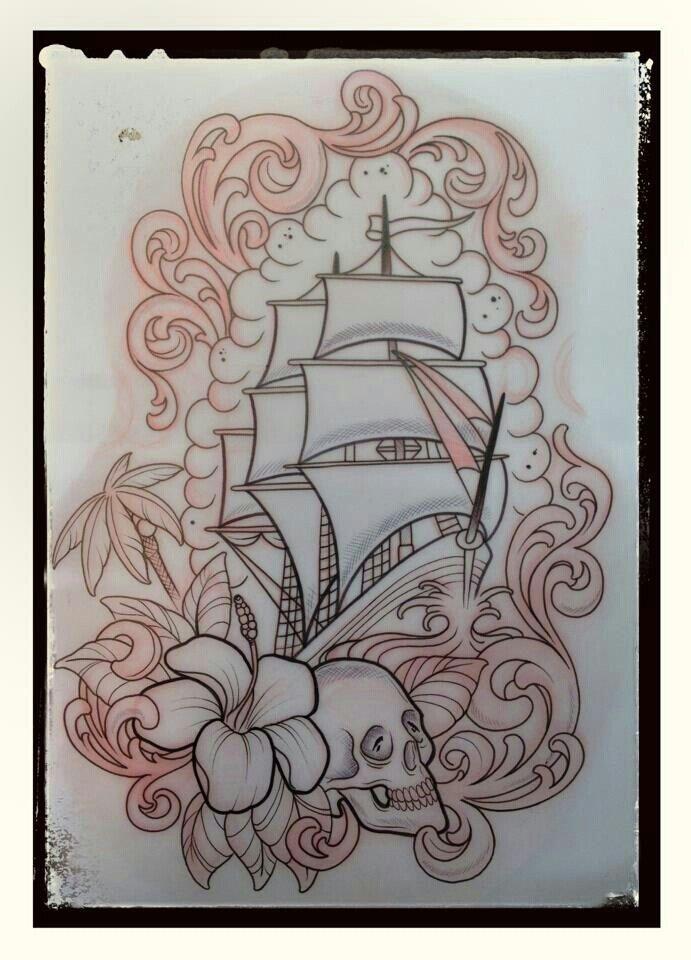 pin de deanna em tattoo art drawings flash pinterest navios. Black Bedroom Furniture Sets. Home Design Ideas