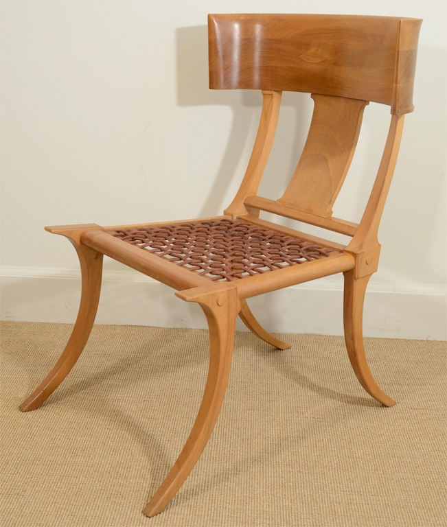 Modern Klismos Chair: Fine T.H. Robsjohn-Gibbings Klismos Saridis Chair
