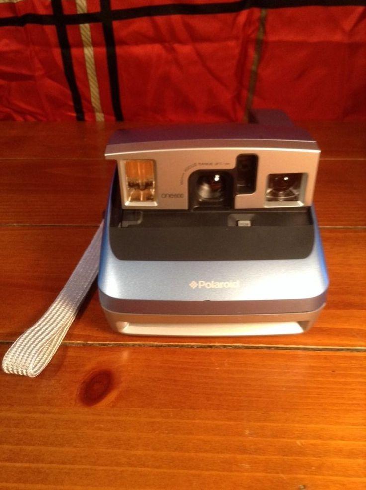 TESTED ~ Vintage Polaroid Blue Edition ONE600 Classic Instant 600 Film Camera #Polaroid