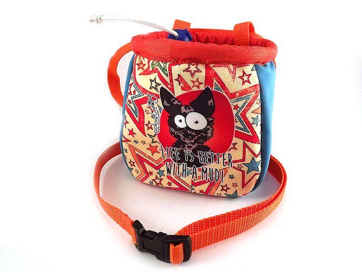 ColorFunDogs dog treat bag with mudi graphics. #mudi #colorfundogs #treatbag