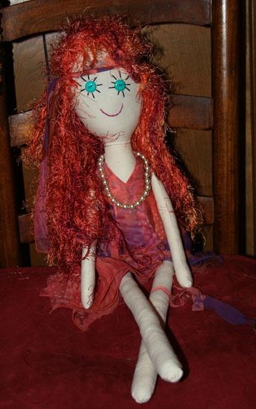 """Gin's Little Characters  Dancin' Dora  27"""" Handemade Rag Doll"""