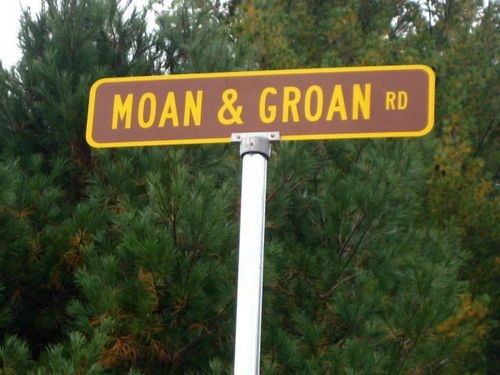 Bet it's pretty noisy down this road....don't want to know why.....Northville, New York.