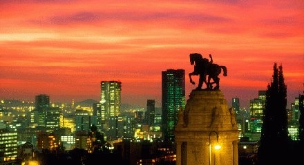 Amazing sunset in Johannesburg