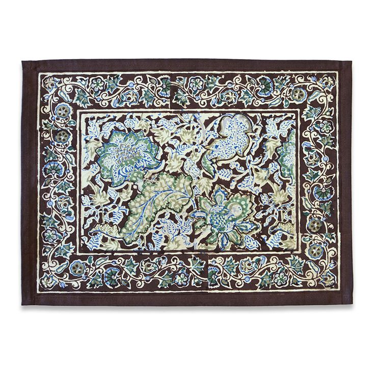Malini Brown & Blue Placemats Set of 6