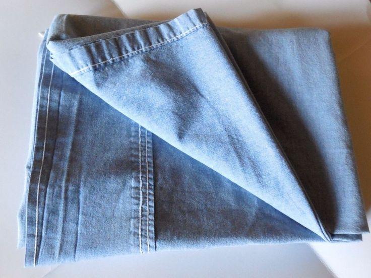 Ralph Lauren Flat Sheet - BLUE CHAMBRAY - TWIN - EUC #RalphLauren #Southwestern
