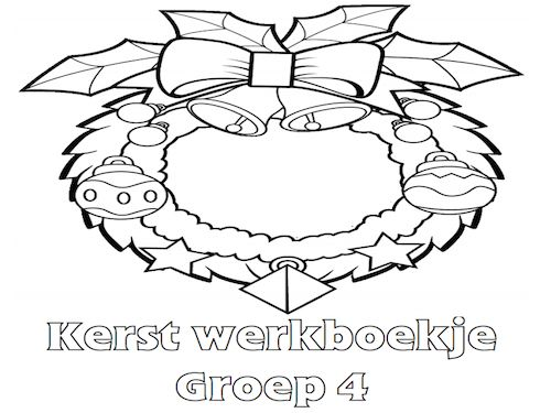 Kerst Werkboekje Groep 4