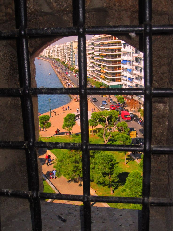 view from white tower, Thessaloniki Greece