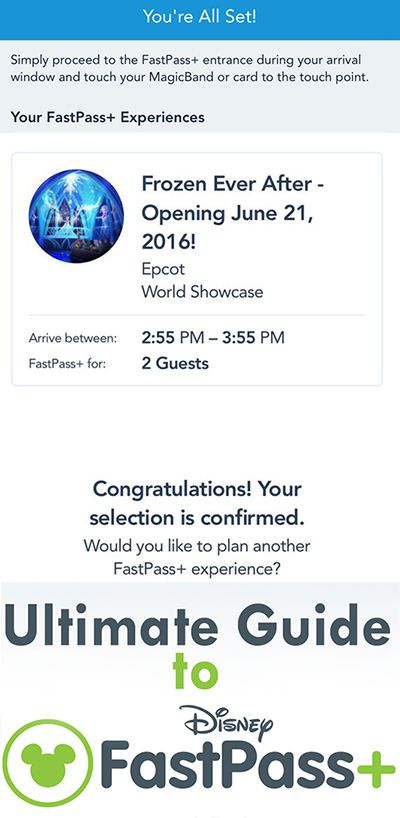 FastPass+ Strategy Guide for WDW (Updated for Frozen Ever After, Soarin Around the World, etc.)