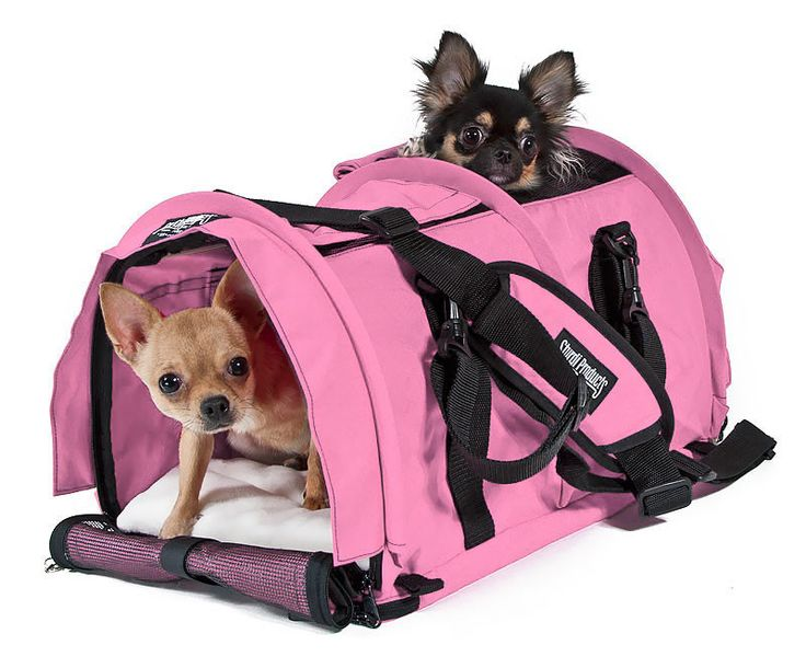 SturdiBag™ divided large pet carrier has two pet compartments to carry two small pets in one carrier. The divider may be unzipped to convert to a one compartment carrier!