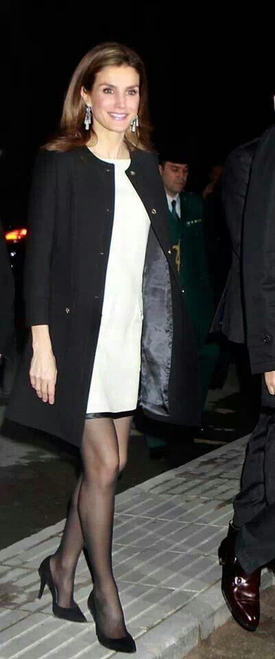 Princess letizia . Black and white