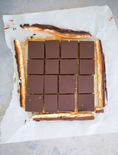 The Ultimate Millionaire's Shortbread by former Great British Bake Off contestant James Morton. Layers of gooey sweet caramel and chocolate rest on top of a easy to make crumbly shortbread. Great for a treat!