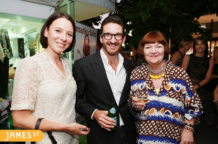 The handsome Paul Hunt with the marie claire editors