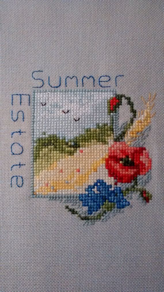 Summer Cross Stitch-small cross by CeeCeesCraftCreation on Etsy