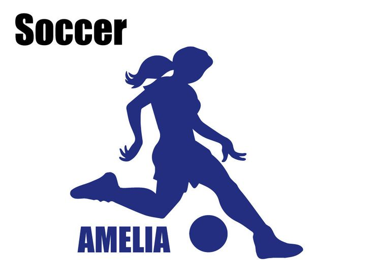 Custom Girl's Soccer Silhouette Wall Graphic FREE SHIPPING by BrilliantBliss on Etsy