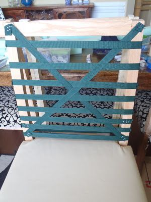 Great idea on how to make cloth chairs!