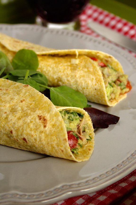 Cinco Quartos de Laranja: Tacos com abacate e atum