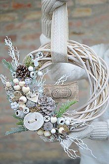 Dekorácie - Vianočný veniec na dvere♥ - 7335976_