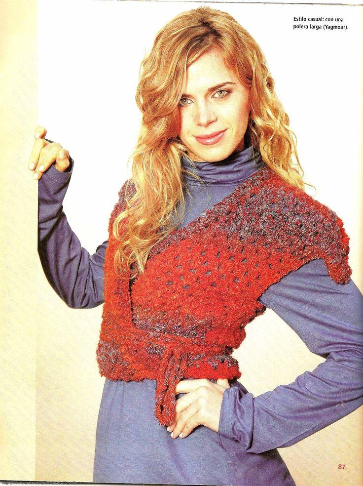 Materiales gráficos Gaby: Falda larga de picos