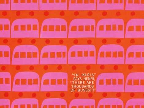 Graphic designer Saul bass's classic kids book - Henri's walk to paris. c 1962 published by Young Scott books.