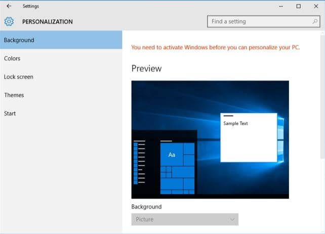 Activate Windows To Personalize Your Pc Window Installation Windows Text Background