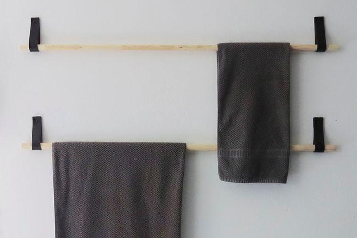 DIY | Des porte-serviettes design avec une vieille ceinture