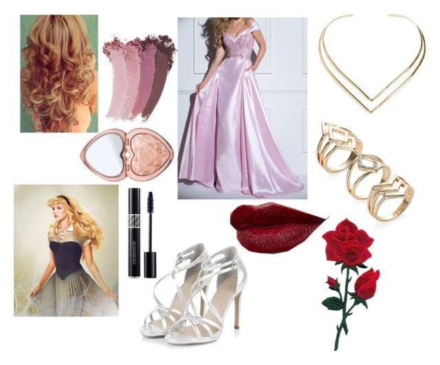 """""""Aurora"""" by kittykat21-clvi ❤ liked on Polyvore featuring Disney, Tony Bowls, Natalie B, Too Faced Cosmetics, Christian Dior and Gucci"""