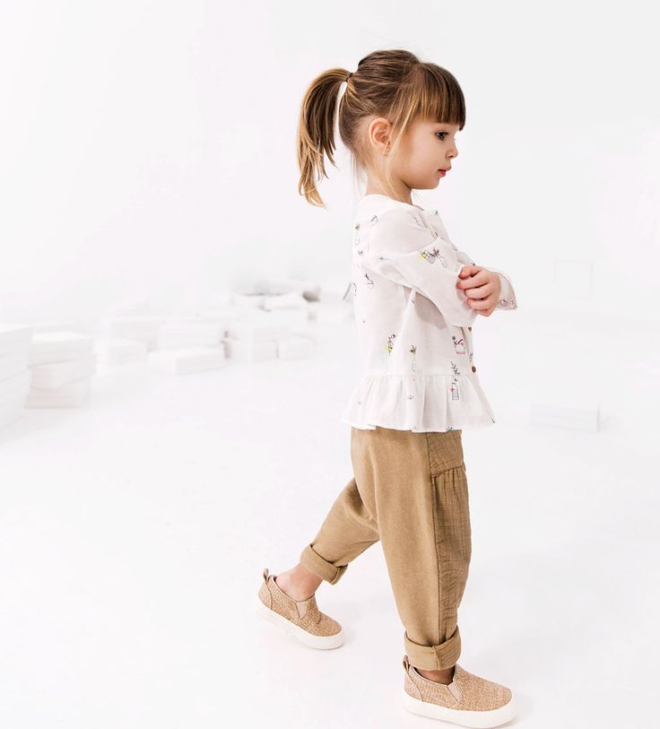 CONTRASTING TROUSERS WITH TIE-LEGGINGS AND TROUSERS-BABY GIRL | 3 months - 4 years-KIDS | ZARA United States