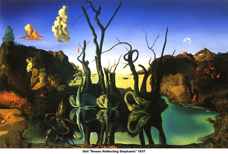 Salvador Dali - Swans Reflecting Elephants | Fine Art ...