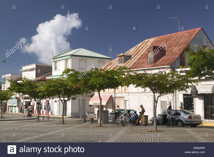 French West Indies, Guadaloupe, Grande Terre, LE MOULE: Main Square
