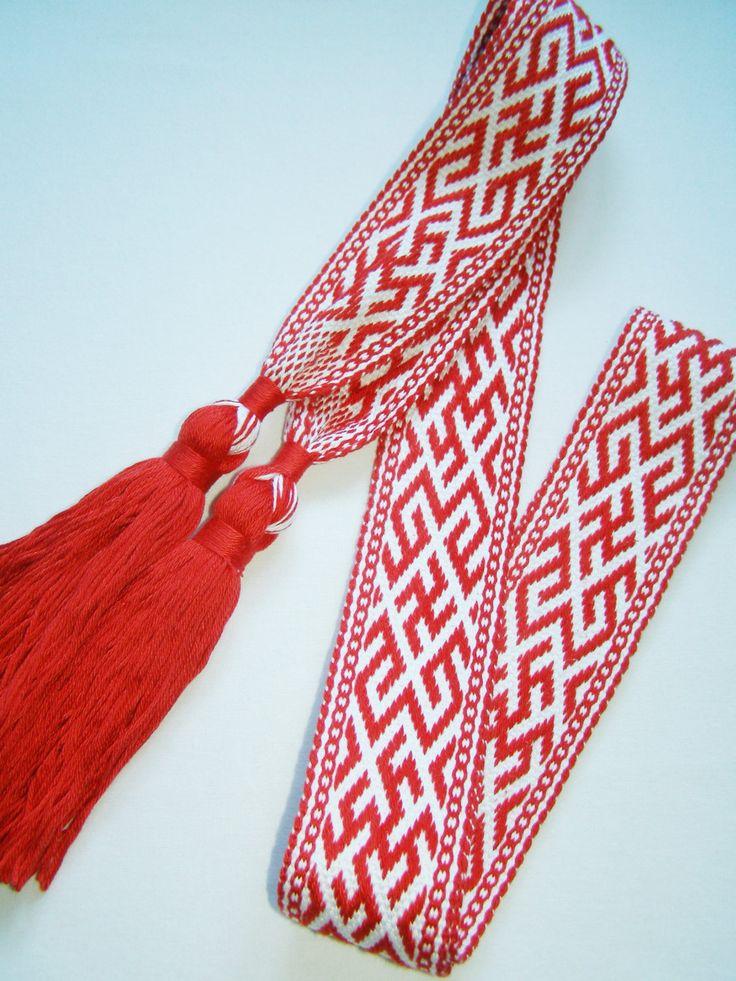 Made to Order_ Woven Slavic Belt, Woven Sash, Russian woven belt, Perunov Cvet…