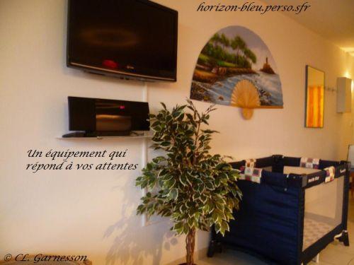 T2, splendide vue mer, parking, piscine: Equipement de qualité (lit bébé) - France-Voyage.com
