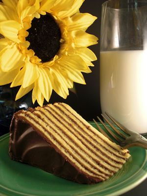 Smith Island Cake, the official dessert for the state of Maryland, consists of ten delicious layers.  It originated on Smith Island, on Maryland's Eastern Shore