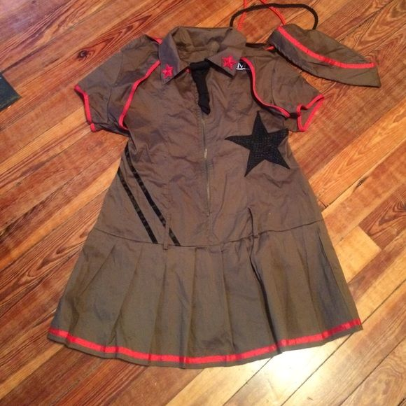 Army Halloween costume Super cute women's Army Halloween costume size small worn once Dresses
