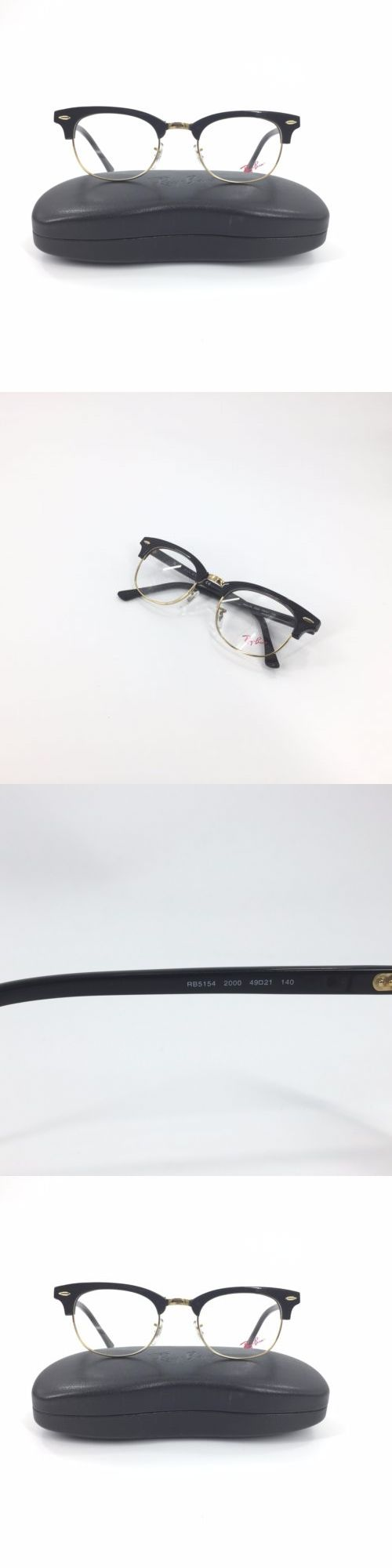 63045d53a switzerland ray ban rb 5154 clubmaster eyeglasses unisex black gold 49  0de8c d6fc0