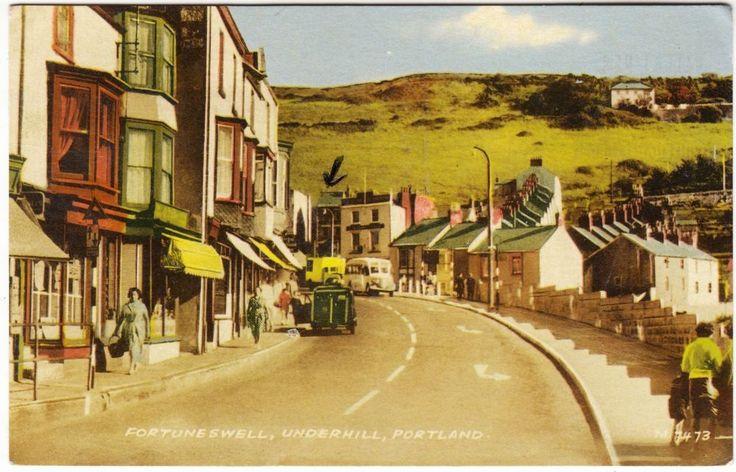 PORTLAND - Fortuneswell - Underhill - Dorset - 1966 used postcard