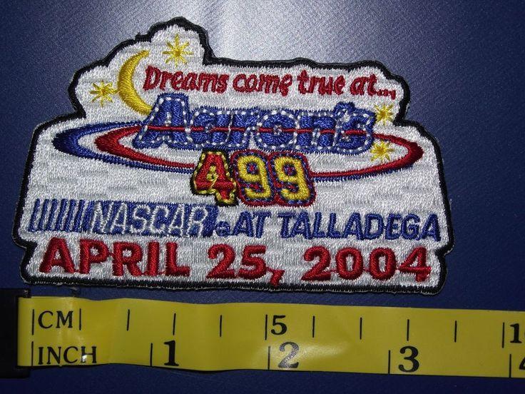 2004 NASCAR Talladega Aaron's 499 Event Patch Jeff Gordon Won Race Car Racing #2004TalladegaAarons499Patch