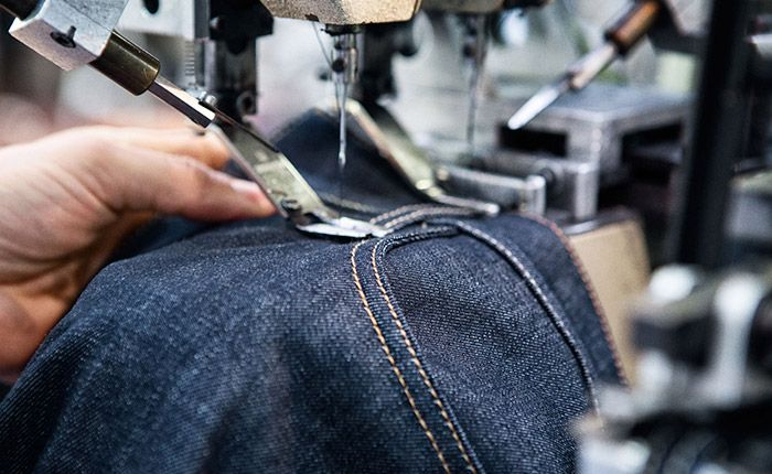 The production phase is where the denim comes to life and goes from laying flat to taking shape.