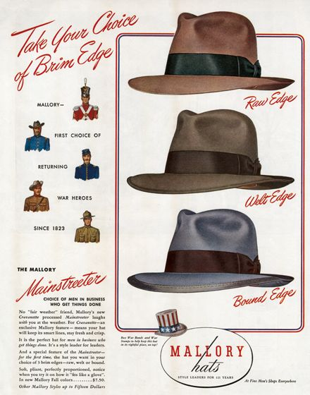 Men's Hats of the 1940s | 1940s Fashion Anytime Greeting Cards