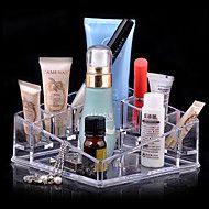 Αποθήκευση+προϊόντων+μακιγιάζ+Κουτί+Καλλυντικών+/+Αποθήκευση+προϊόντων+μακιγιάζ+Ακρυλικό+Μονόχρωμο+13.5+x+13.5+x+7.0+–+EUR+€+19.38