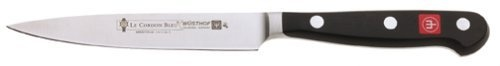 Wusthof Le Cordon Bleu 4.5 inch Paring Knife by Wusthof. Save 20 Off!. $59.99. Precision Forged from one piece of German X50CrMoV15 steel. Specially polished super fine laser tested edge is super sharp for uniform cutting and long-lasting edge retention.. 30 Percent lighter compared to Wusthof Classic Series. Exceptionally sharp with Wusthof's PEtec sharpening process. 3-1/2-inch Le Cordon Bleu paring knife peels, cuts, trims and dices. Amazon.com Product Description                   W...