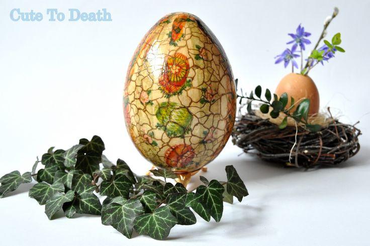 Cute To Death: Ręcznie zdobiona pisanka... czyli jak ozdobić jajk...