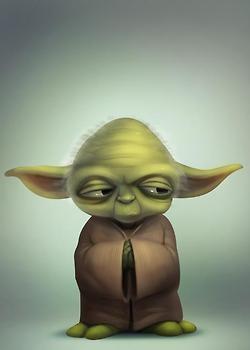 Frases del maestro Yoda (La Guerra de las Galaxias) «La fortaleza de un Jedi fluye de la Fuerza. (