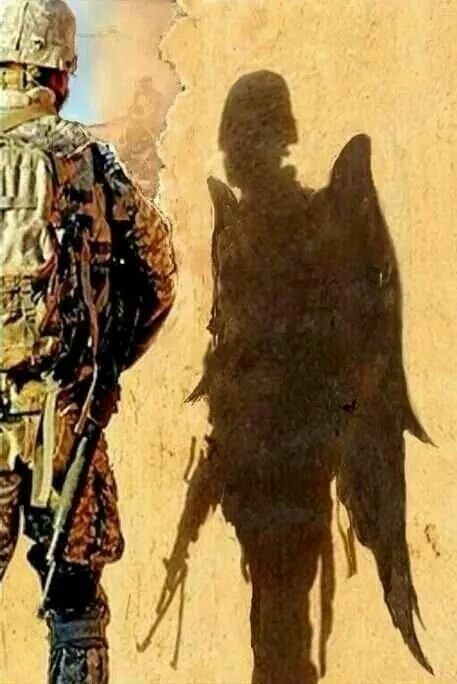 Picture of a soldier and his shadow!