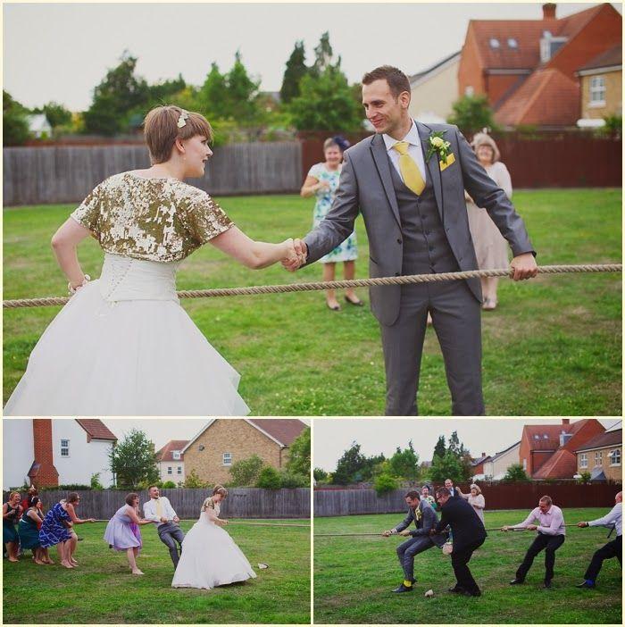 Wedding day tug of war - Bride VS groom  Camera Hannah