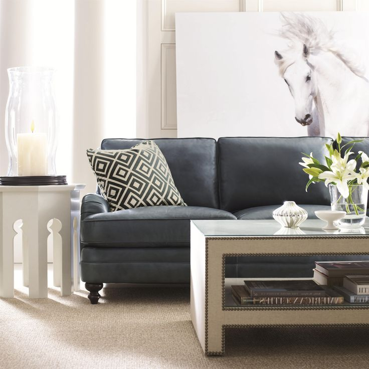 Aleah Cottage Styled Leather Sofa By Bernhardt #contemporary #sofa #calm